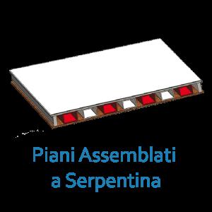 Piani assemblati a Serpentina